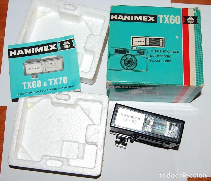 Cámara de fotos: FLASH ELECTRONICO HANIMEX TX60 CON CAJA Y LIBRO DE INSTRUCCIONES - Foto 2 - 198847521