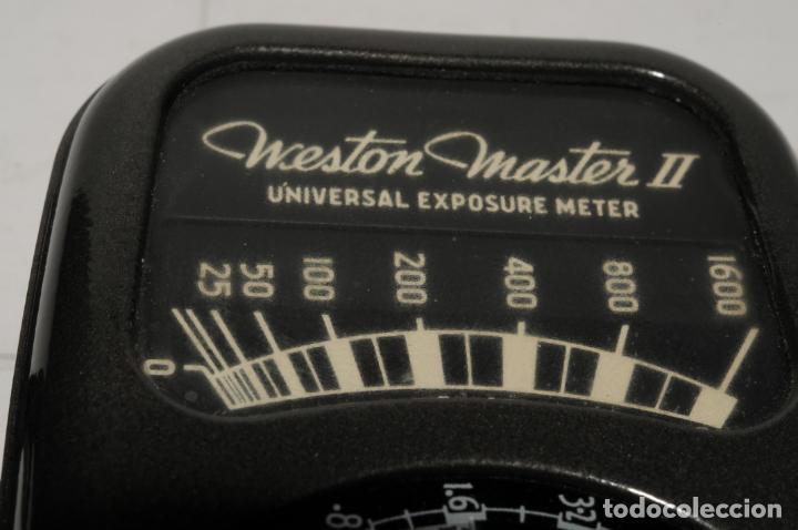 Cámara de fotos: FOTOMETRO WESTON MASTER II - MOD 735 USA (ESTADO IMPECABLE CON SU ESTUCHE ORIGINAL) - Foto 5 - 199723955
