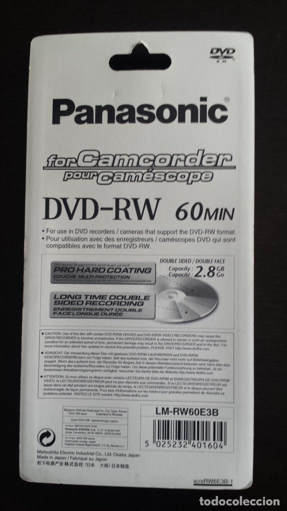Cámara de fotos: Pack de 3 dvd Rewritable. 60 min. 2,8 gb. PANASONIC para Camcorder Hecho en Japó Nuevo, precintado - Foto 2 - 200813261