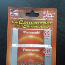 Cámara de fotos: PACK DE 3 DVD REWRITABLE. 60 MIN. 2,8 GB. PANASONIC PARA CAMCORDER HECHO EN JAPÓ NUEVO, PRECINTADO . Lote 200813261