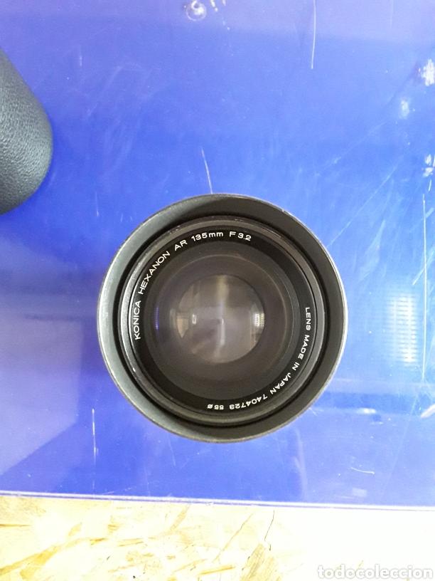 Cámara de fotos: Objetivo konica hexanon de 135 f.3.2 con funda - Foto 3 - 201291323
