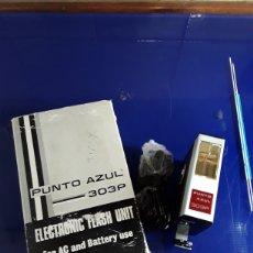 Cámara de fotos: ANTIGUO FLASH ELECTRÓNICO FLASH UNITED (PUNTO TO AZUL 303P). Lote 201297365