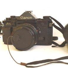 Appareil photos: CAMARA CANON LENS MADE IN JAPAON FD 50MM 1:1.8 A1 CON EL OBJETIVO. Lote 205280280