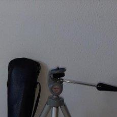 Cámara de fotos: ANTIGUO TRIPODE TELESCOPICO EXTENSIBLE TOPMAN A 8 CON SU FUNDA AÑOS 70 / 80. Lote 205305615
