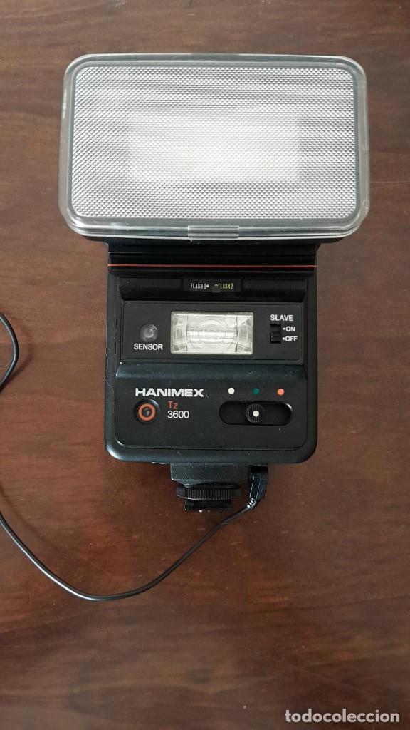 ANTIGUO FLASH HANIMEX TZ 3600, MADE IN JAPAN, ALTA GAMA, FUNCIONA, MIRAR FOTOS, TAL CUAL SE VE. (Cámaras Fotográficas Antiguas - Objetivos y Complementos )