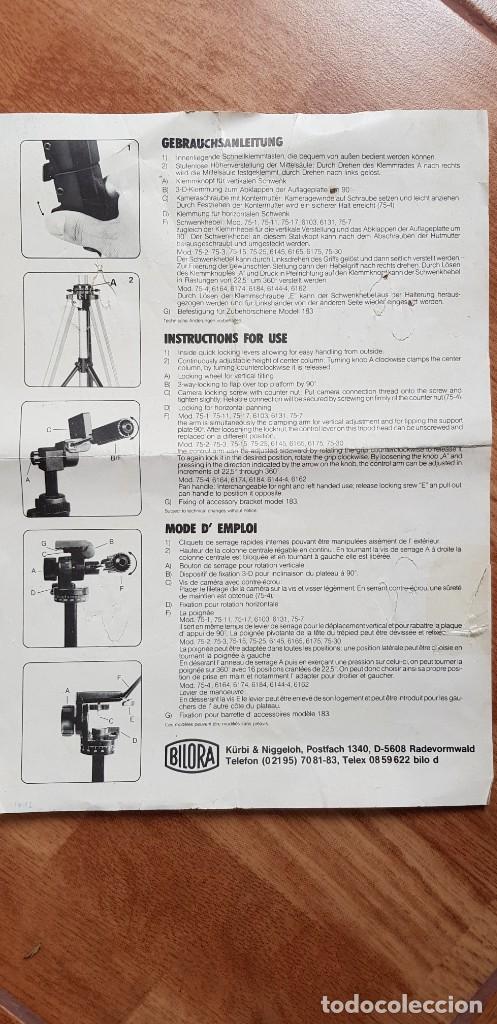 Cámara de fotos: Trípode Profesional Bilora-Profilo 6103 (ver descripción) - Foto 6 - 205264177