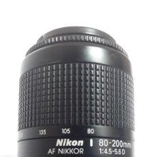 Cámara de fotos: OBJETIVO 80/200 MM PARA CÁMARA REFLEX NIKON F50 EN PERFECTO ESTADO. Lote 208646355
