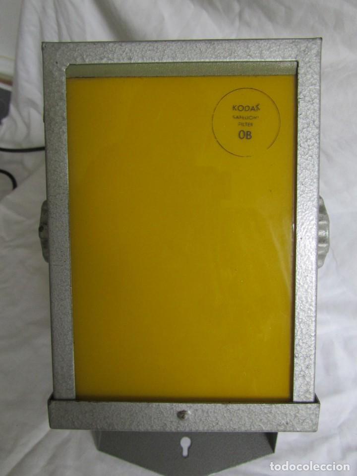 Cámara de fotos: Lámpara hierro galvanizado de filtro fotográfico Kodak Shafelight, funcionando - Foto 2 - 209629575