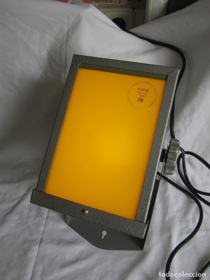 Cámara de fotos: Lámpara hierro galvanizado de filtro fotográfico Kodak Shafelight, funcionando - Foto 9 - 209629575