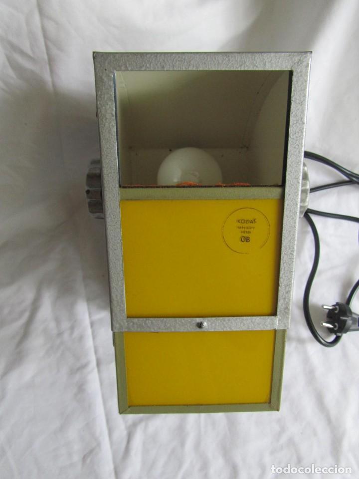 Cámara de fotos: Lámpara hierro galvanizado de filtro fotográfico Kodak Shafelight, funcionando - Foto 10 - 209629575