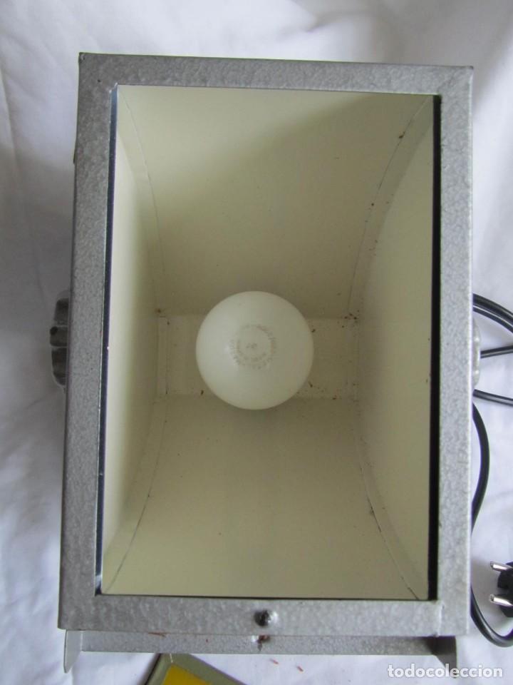 Cámara de fotos: Lámpara hierro galvanizado de filtro fotográfico Kodak Shafelight, funcionando - Foto 11 - 209629575