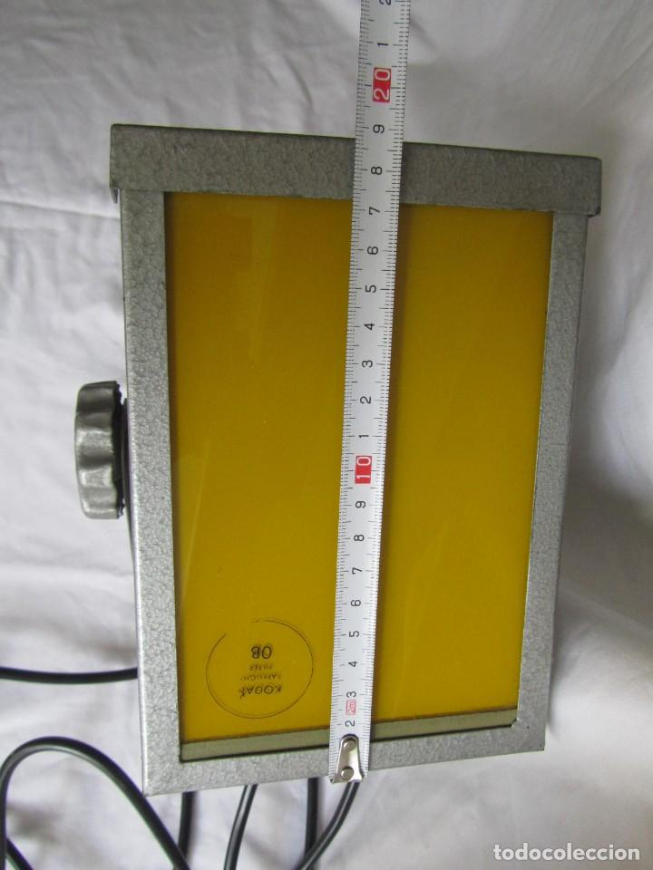 Cámara de fotos: Lámpara hierro galvanizado de filtro fotográfico Kodak Shafelight, funcionando - Foto 14 - 209629575