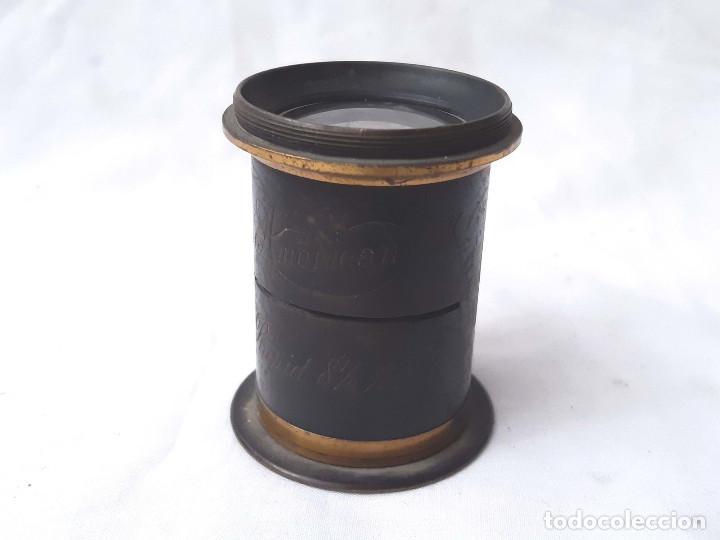 OBJETIVO DE CÁMARA FOTOGRÁFICA. AMERICAN RAPID 8 ½ X 6 ½. (Cámaras Fotográficas Antiguas - Objetivos y Complementos )