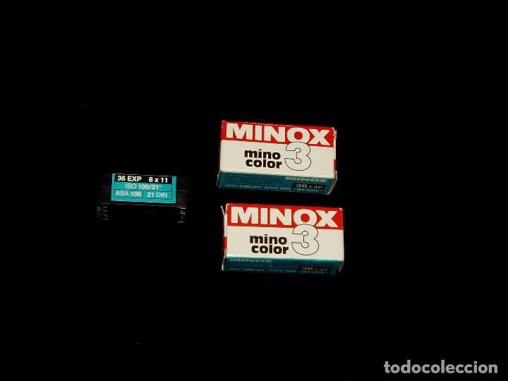 ROLLOS FOTOGRÁFICOS DE MINOX PASADOS (Cámaras Fotográficas Antiguas - Objetivos y Complementos )