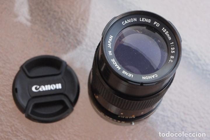 Cámara de fotos: 135 mm Canon Montura FD.Original Canon.Como Nuevo. - Foto 2 - 217893765