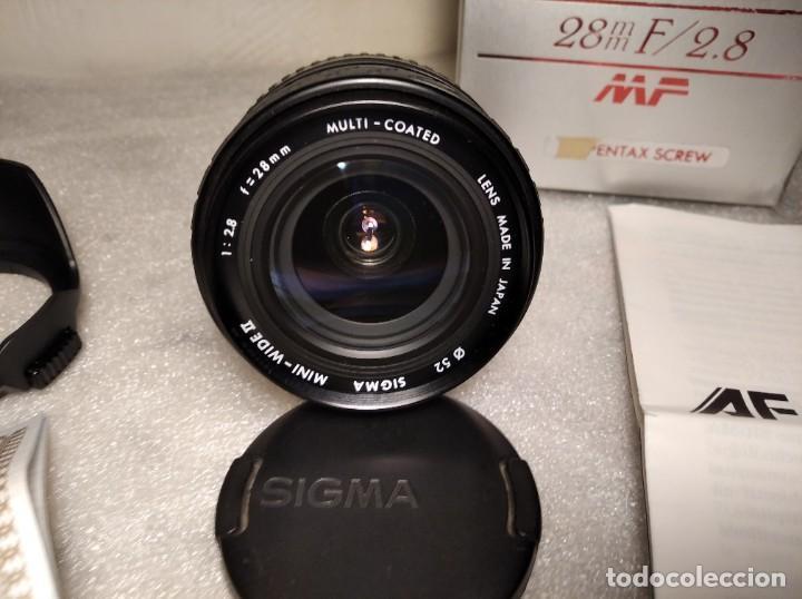 Cámara de fotos: OBJETIVO MARCA SIGMA 28MM F/2.8 MF - 52MM (PARA PENTAX) - Foto 2 - 218424700