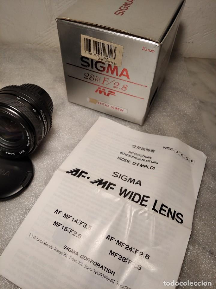 Cámara de fotos: OBJETIVO MARCA SIGMA 28MM F/2.8 MF - 52MM (PARA PENTAX) - Foto 3 - 218424700
