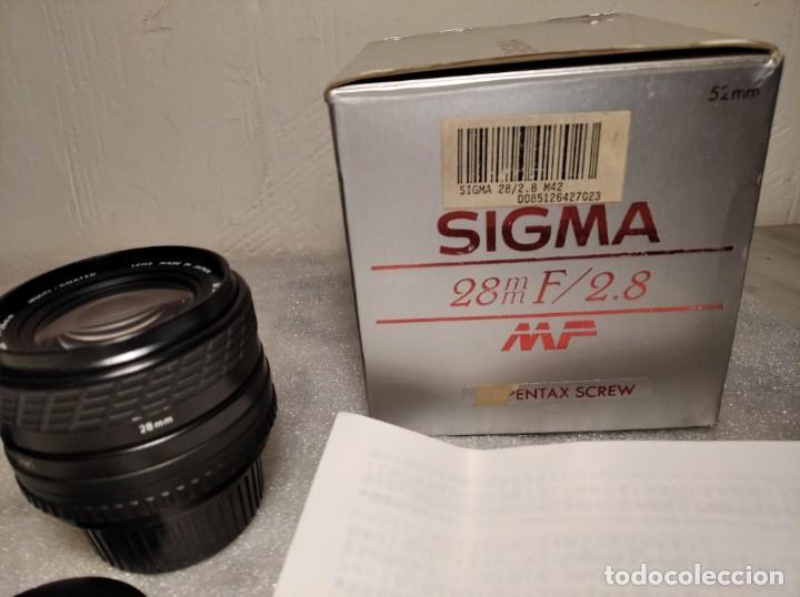 Cámara de fotos: OBJETIVO MARCA SIGMA 28MM F/2.8 MF - 52MM (PARA PENTAX) - Foto 14 - 218424700