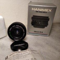 Cámara de fotos: OBJETIVO MARCA HANIMEX 28MM F/2.8 - GRAN ANGULAR - 52 MM (PARA NIKON). Lote 218432338