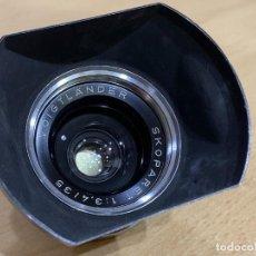 Cámara de fotos: VOIGTLANDER SKOPAREX 35MM F3.4 CON PARASOL PARA VITESSA. Lote 218654426