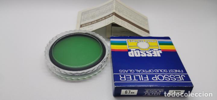 FILTRO JESSOP 67MM GREEN PO1 NUEVO A ESTRENAR MADE JAPAN (Cámaras Fotográficas Antiguas - Objetivos y Complementos )