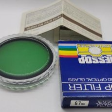 Cámara de fotos: FILTRO JESSOP 67MM GREEN PO1 NUEVO A ESTRENAR MADE JAPAN. Lote 218709287