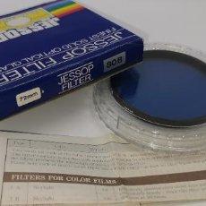 Cámara de fotos: FILTRO JESSOP 72MM BLUE 80B NUEVO A ESTRENAR MADE IN JAPAN. Lote 218712591