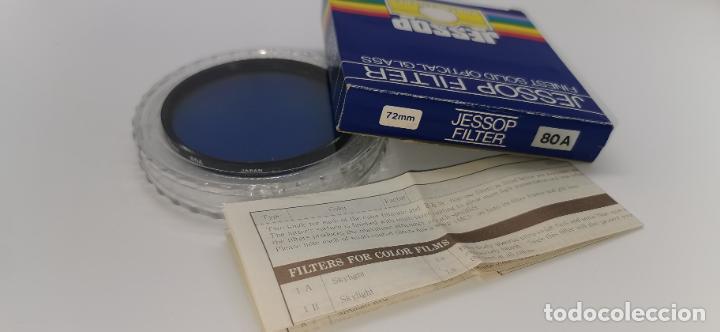 FILTRO JESSOP 72MM BLUE 80A NUEVO A ESTRENAR MADE IN JAPAN (Cámaras Fotográficas Antiguas - Objetivos y Complementos )
