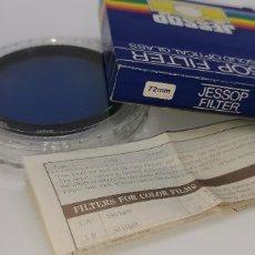 Cámara de fotos: FILTRO JESSOP 72MM BLUE 80A NUEVO A ESTRENAR MADE IN JAPAN. Lote 218712642