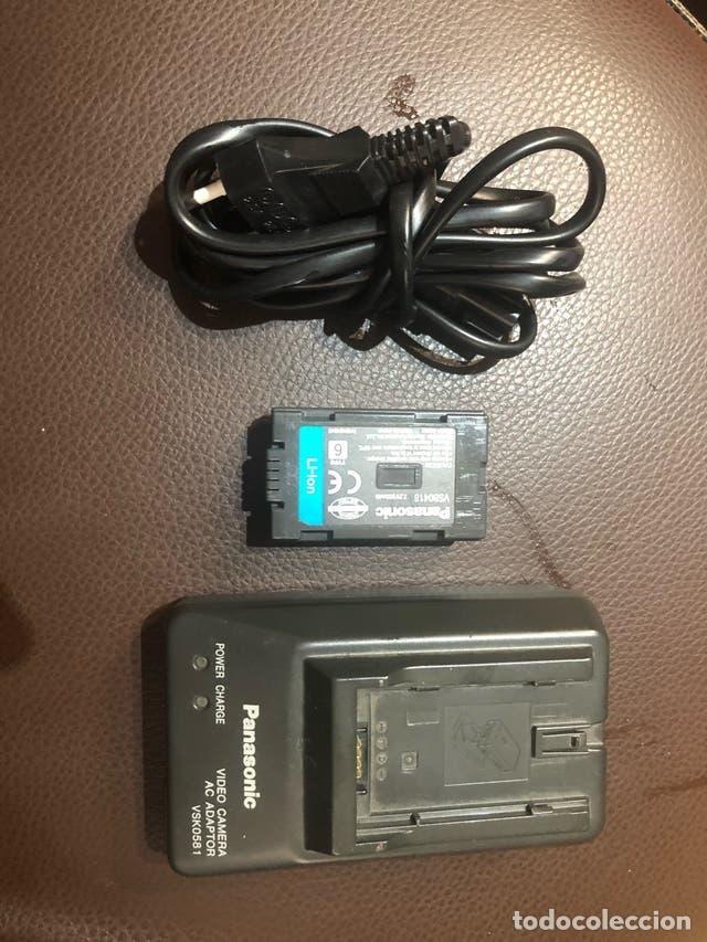 Cámara de fotos: Cargador Panasonic VSK0581, camara de video, para batería VSB0418. Se incluye una batería usada - Foto 2 - 219751201
