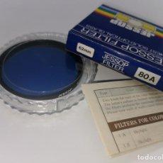 Cámara de fotos: FILTRO JESSOP 62MM 80A FILTRO AZUL MADE IN JAPAN NUEVO. Lote 220781275