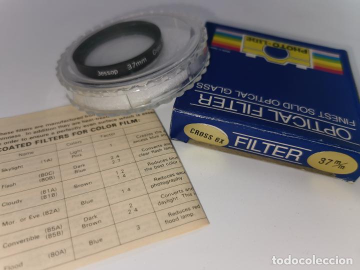 FILTRO JESSOP 46MM CROSS 6X JAPAN NUEVO (Cámaras Fotográficas Antiguas - Objetivos y Complementos )