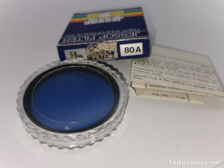 FILTRO 80A 52MM AZUL JESSOP MADE IN JAPAN NUEVO (Cámaras Fotográficas Antiguas - Objetivos y Complementos )
