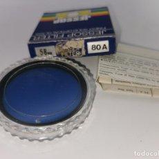 Cámara de fotos: FILTRO 80A 52MM AZUL JESSOP MADE IN JAPAN NUEVO. Lote 220783542
