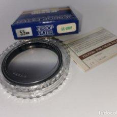 Cámara de fotos: FILTRO JESSOP 55MM GC GRAY MADE JAPAN NUEVO. Lote 220783691