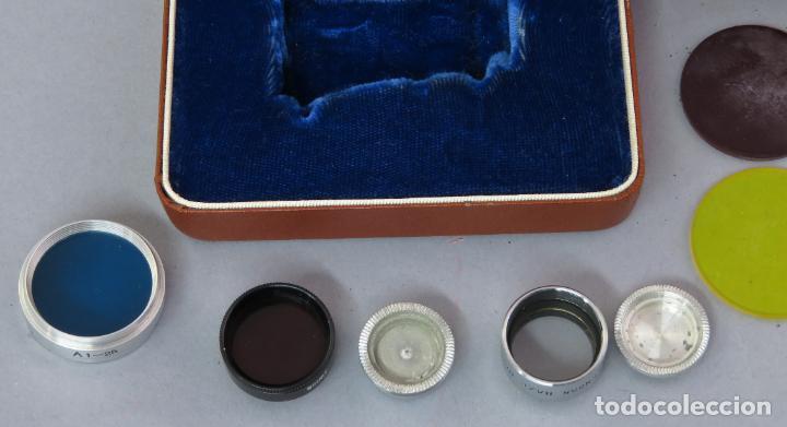 Cámara de fotos: Juego de lentes y flitros Wollensak Rochester Nueva York años 60 en su estuche original - Foto 2 - 222016695