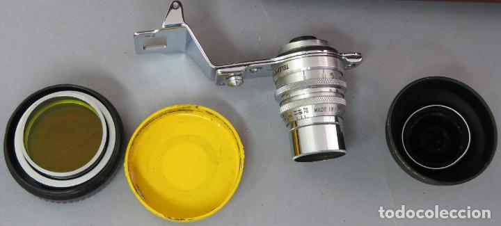 Cámara de fotos: Teleobjetivo de 38 mm F4 5 y lentes by Kodak Rochester Estados Unidos en su estuche original años 60 - Foto 2 - 222017516