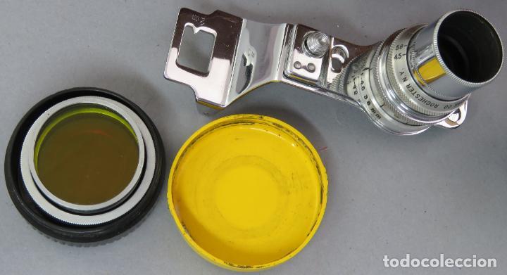 Cámara de fotos: Teleobjetivo de 38 mm F4 5 y lentes by Kodak Rochester Estados Unidos en su estuche original años 60 - Foto 3 - 222017516