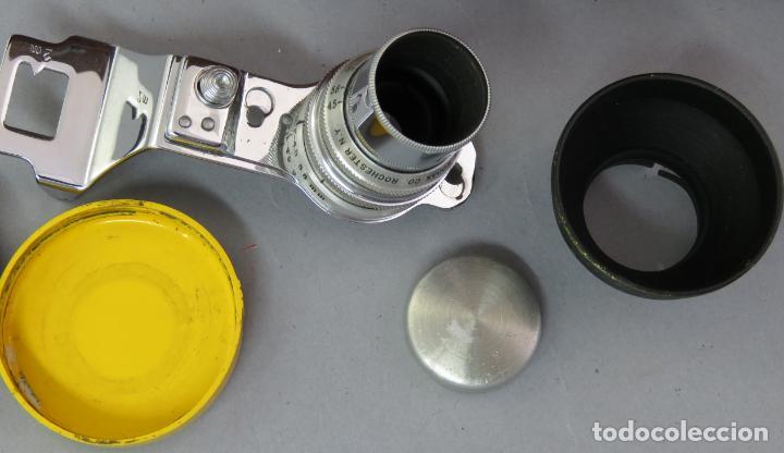 Cámara de fotos: Teleobjetivo de 38 mm F4 5 y lentes by Kodak Rochester Estados Unidos en su estuche original años 60 - Foto 4 - 222017516