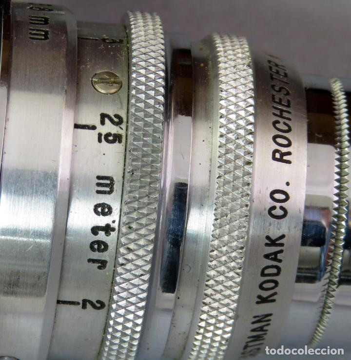 Cámara de fotos: Teleobjetivo de 38 mm F4 5 y lentes by Kodak Rochester Estados Unidos en su estuche original años 60 - Foto 5 - 222017516