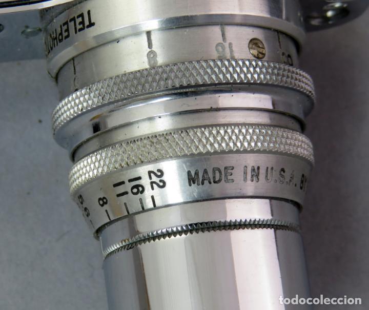 Cámara de fotos: Teleobjetivo de 38 mm F4 5 y lentes by Kodak Rochester Estados Unidos en su estuche original años 60 - Foto 7 - 222017516