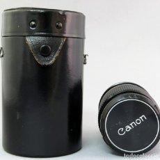 Cámara de fotos: OBJETIVO CANON LENS FD 135MM EN SU FUNDA RÍGIDA ORIGINAL. Lote 222023068