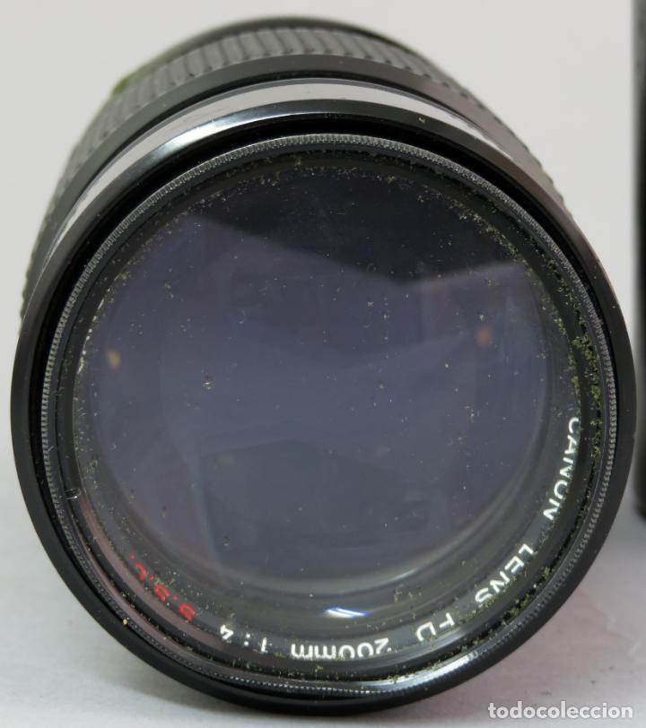 Cámara de fotos: Objetivo Canon Lens FD 200mm en su funda rígida original - Foto 3 - 222023483