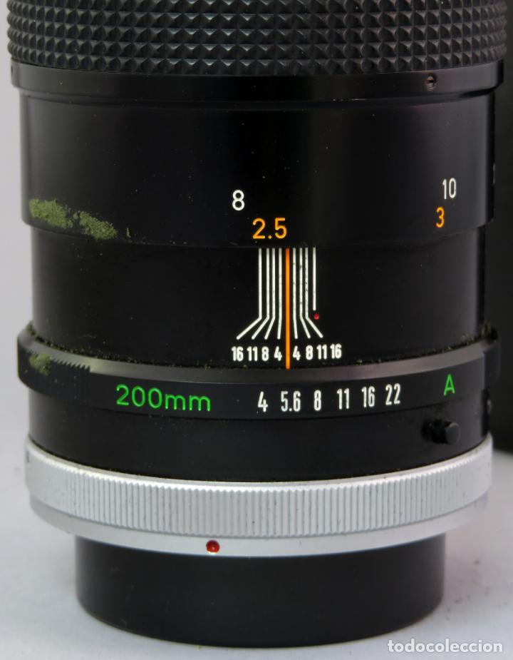 Cámara de fotos: Objetivo Canon Lens FD 200mm en su funda rígida original - Foto 8 - 222023483