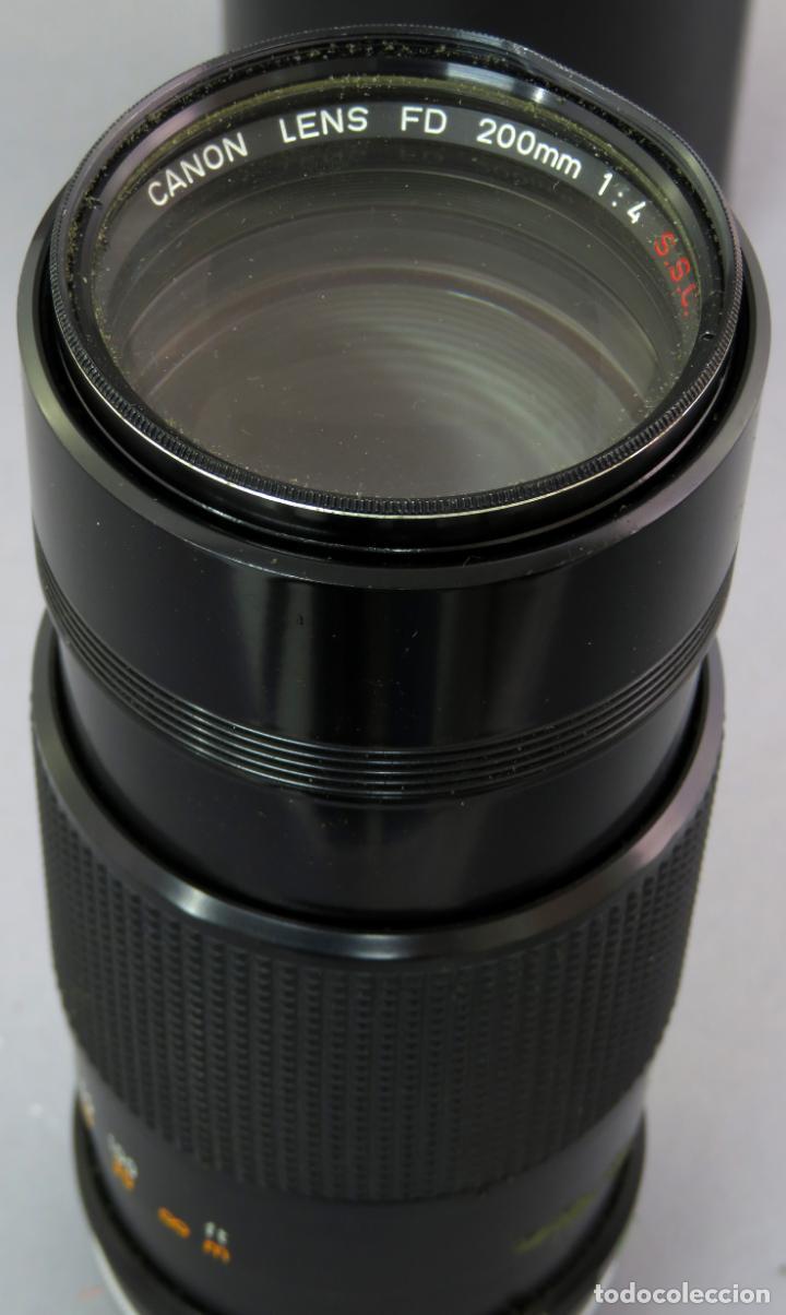 Cámara de fotos: Objetivo Canon Lens FD 200mm en su funda rígida original - Foto 11 - 222023483