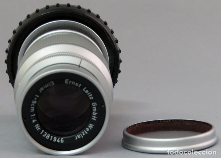Cámara de fotos: Objetivo Ernst Leitz Wetzlar Elmar f 9 cm 1 4 para Leica Alemania con funda rígida - Foto 4 - 222027041