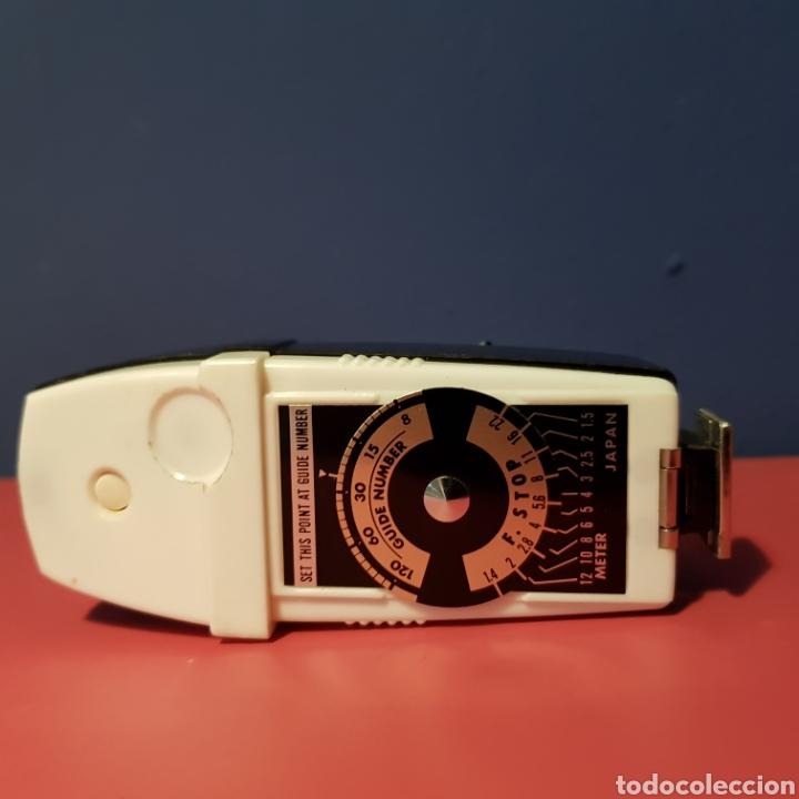 Cámara de fotos: Antiguo flash de abanico Hanimex dual compact II con su funda. - Foto 6 - 222051182