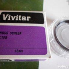 Cámara de fotos: FILTRO VIVITAR CROS ESCREN ESTRELLAS DE 48 MM DIAMETRO NUEVO. Lote 222059975