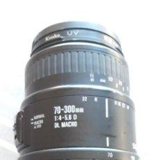 Cámara de fotos: ZOOM SIGMA 70-300 1:4-5.6 D DL MACRO AF PARA NIKON. Lote 222386805