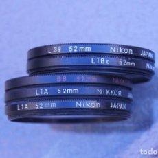 Cámara de fotos: LOTE DE 5 FILTROS NIKON.. Lote 223108940